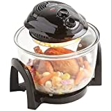 VonShef Premium 7L Black Halogen Air Fryer Oven 900W with Timer, High Rack & Low Rack and Tongs