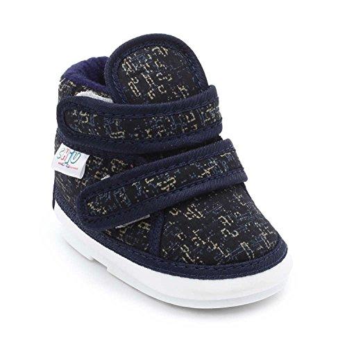 CHIU Chu-Chu Mix Black Shoes With Double Strap For Baby Boys & Baby Girls