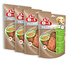 8in1 Fillets Pro Digest Chicken Snack, Functional Treats for Dogs, 4er Pack (4 x 80 g)