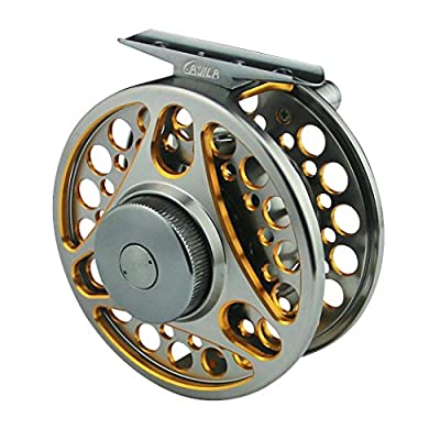 Dual Color Aluminum Alloy Machine Cut Fly Fishing Reels WF5/6 by TON'S