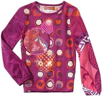 Desigual - Alemany - T-Shirt à Manches Longues - Fille - Violet - Violett (purple potion) - 116 cm (5/6 ans)