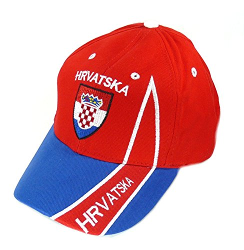 Fan Cap Kroatien Hrvatska rot NEU Kappe Flagge Basecap