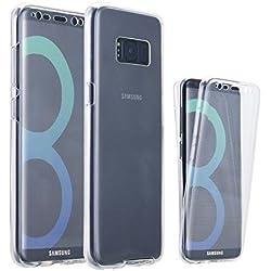 Funda Samsung Galaxy S8 Plus, Ordica ES®, Carcasa Galaxy S8 Plus Silicona 360 Grados Integral 2 Partes Completa Ultra Slim TPU Accesorios Entera Resistente Protección Gel Anti Golpes Delanteros Y Traseros - Color Transparente