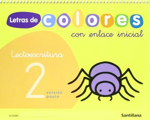 Letras de colores, lectoescritura, Educación Infantil Cuaderno 2