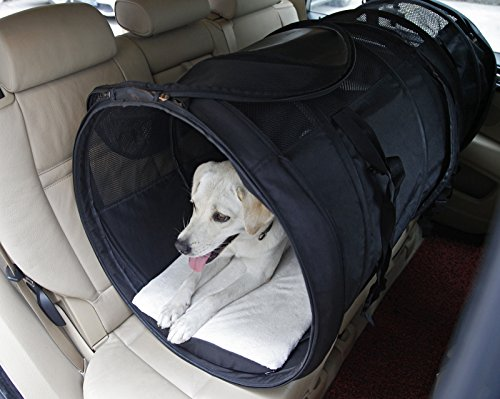 Petsfit Transportín de viaje para perro o gato, con marco de alambre resistente, portátil,...