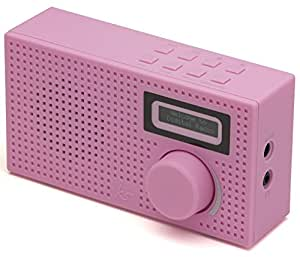 kitsound pixel portable mini dab radio and alarm clock pink hi fi speakers. Black Bedroom Furniture Sets. Home Design Ideas