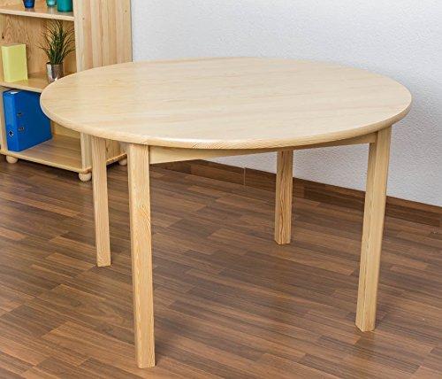 Tisch Kiefer massiv Vollholz natur Junco 235B (rund) - Durchmesser 120 cm