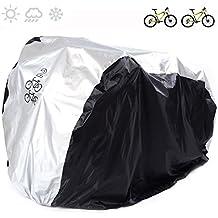 Bicicleta cubierta 190T nailon resistente al agua portátil ligero para exterior interior de almacenamiento 2bicicletas FUCNEN funda para bicicleta Anti Polvo Lluvia UV Protección para bicicleta de carretera de montaña