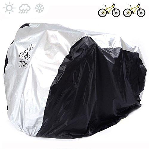 FUCNEN Bike für 190T Nylon Schwere Pflicht Wasserdicht Tragbar Leicht für Außerhalb in-Aufbewahrung 2Fahrräder Fahrrad Anti Staub Regen UV Schutz für Mountain Road Bike -