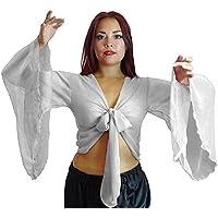 Choli danza del vientre brazo parte superior Tribal con Alas Gypsy disfraz, talla 12–24–hasta XXXL multicolor Off white 12/14-16