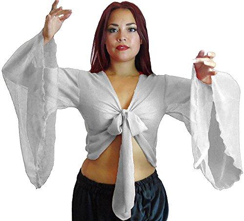 ed Arm Top Tribal Gypsy Kostüm UK Größe 12-24 - bis XXXL (12/14-16, NICHT-GERADE WEISS) (Geflügelte Kostüme)