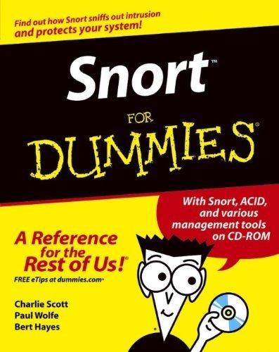 Snort??For Dummies by Scott, Charlie, Wolfe, Paul, Hayes, Bert (2004) Paperback