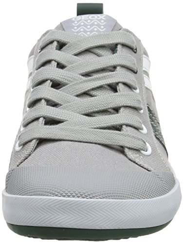 Geox Jr Kiwi I, Sneakers Basses garçon multicolore (Multicolor (Grey / Green))