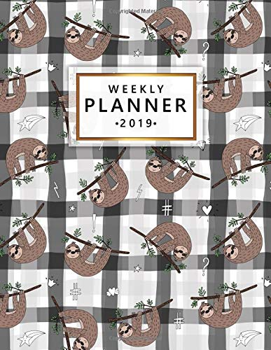 Weekly Planner 2019: Cute doodle sloth print planner with weekly views with to-do lists, inspirational quotes and more. The perfect organizer to make 2019 fantastic. por Simple Planners