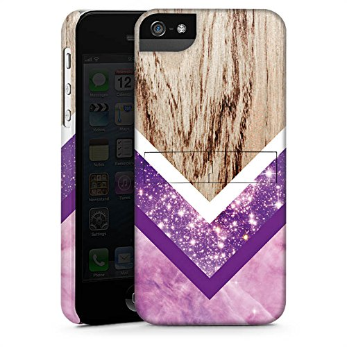 Apple iPhone X Silikon Hülle Case Schutzhülle Holz Look Glitzer Hipster Muster Premium Case StandUp