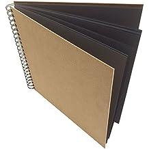 Artway Enviro (reciclado) Papel cuadrado negro grande / Sketchbook (270gms) con encuadernacion dura. 285mm x 285mm