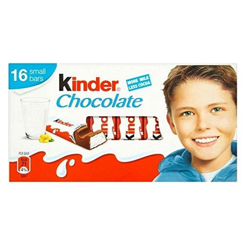 Kinder Barra De Chocolate (16 Por Paquete - 200g)