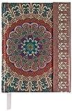 Boncahier 103014 Notizbuch 14.5 x 11 cm, 144 Seiten, liniert, Hindustan, hellbraun/grün