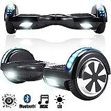 Magic Vida Skateboard Électrique 6.5 Pouces Puissance 700W avec Haut Parleur Bluetooth et LED...