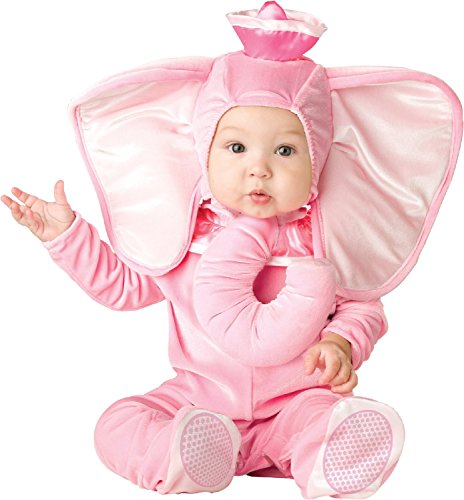 Rosa Elefanten-Kostüm für Babys 68/80 (6-12 (Rosa Elefant Baby Kostüme)