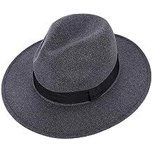 Melón Sombrero Vaquero Lavabo Mujer Hombre Invierno Cálido Gorro de Lana  Lana Vintage Jazz Sombrero Transpirable bd31dade2c2