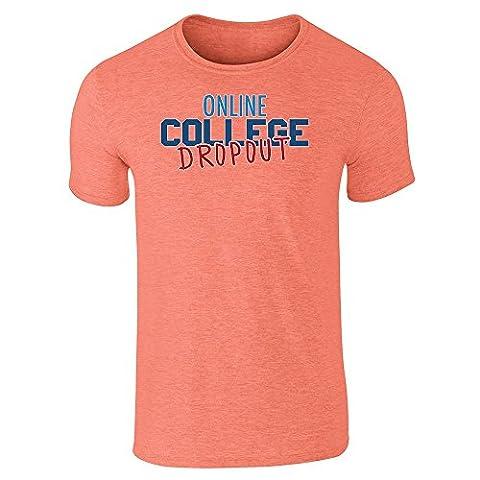 Pop Threads - T-Shirt - Homme Orange Heather Orange