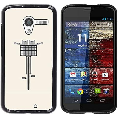 WonderWall Carta Da Parati Immagine Custodia Rigida Protezione Cover Case Per Motorola Moto X 1 (Pesche Vita Bassa Dei Pantaloni)