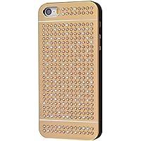 iShield® SE***LUXUS***mit*328*Crystals from Swarovski® Luxus Hülle /Schale/ LUXUS Schutzhülle für iPhone SE/5S/5 aus gebürstetem Aluminium mit Swarovski Elementen, Marke und Model: iShield® SE LUXUS Hülle (Gold V.)