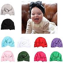 CHSEEA 10PCS Niños Sombrero Beanie Gorras Elásticas Caliente de Punto Arco  Venda De Pelo Bebe Vinchas 114f87d9e5c