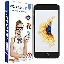 Cellbell BTMBAG1003 Premium Tempered Glass Screen Protector for Apple Iphone 6 6s (4.7 inch ONLY)[3D Touch Compatible- Tempered Glass] 0.2mm Screen Case Protection 99% Touch Accurate Fit(Clear)(Comes with Warranty)Complimentary Prep cloth