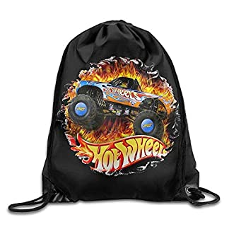Bolsas de Gimnasia Bolsas de Cuerdas, Hot Wheels Nylon Drawstring Sack Bag Home Travel Sport Storage Fashion