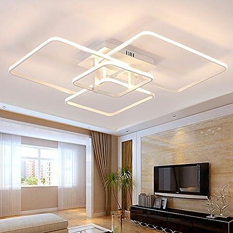 Lonfenner LED Deckenleuchte post-modernen, minimalistischen Wohnzimmer Schlafzimmer Lampe rechteckige atmosphärischen Kunst kreative Persönlichkeit Tischlampe, 4 Leiter