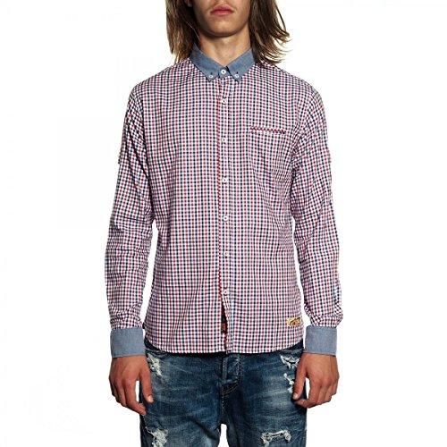 GIANNI LUPO Camicia GLS17034 Blu/Rosso