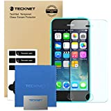 iPhone SE/5C/5S/5 Tempered Glass Screen Protector, TeckNet [3D Touch Compatible] Tempered Glass Screen Protector with Paste Installation Tool For Apple iPhone SE/5C/5S/5 with 9H Hardness and 96% Transparency