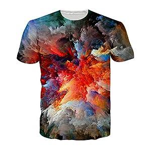 ZzSTX 3D T Shirt Cloud Print T-Shirt Sommer Männer Frauen Tops Kurzarm