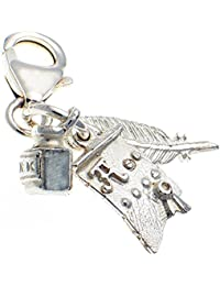 Welded Bliss Sterling 925 Silver Spitfire Aircraft Lobster Clip On Charm WBC1286