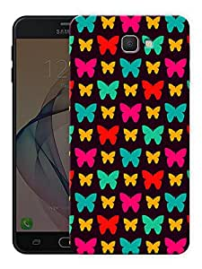 "Ulta Anda Butterfly And Butterflies Pattern Printed Designer Mobile Back Cover For ""Samsung Galaxy J7 Prime"" (3D, Matte Finish, Premium Quality, Protective Snap On Slim Hard Phone Case, Multi Color)"
