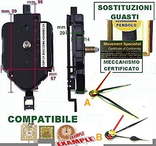 Linea3 movimento meccanismo a pendolo con filettatura alta anche x ricambio thun ee lancette mignon