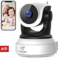 Victure Telecamera IP WiFi Interno 720P,Videocamera di Sorveglianza Wireless HD con Sensore di Movimento, Visione Notturna,Audio Bidirezionale