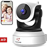 Victure WiFi IP Camera 720P HD Wireless Indoor Home Security Surveillance Camera with Night Vision Motion Detection Playback 2-Way Audio Dome Home Monitor for Baby Elder Pet Pan/Tilt/Zoom