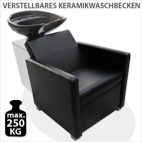 Hairdressing Backwash Chair MST-312 Black Shampoo Station Backwash Unit Washpoint Barber Wash Chair Ceramic Sink Black
