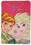 Elsa und Anna Kuscheldecke 140 x 100 cm Fleecedecke Polardecke Decke Disney Frozen Eiskönigin