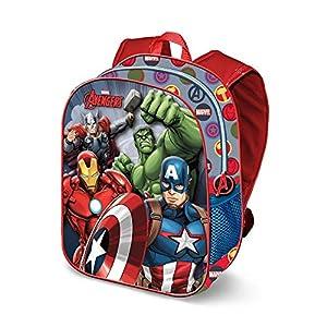 51Doo6FTTvL. SS300  - Karactermania The Avengers Force-3D Rucksack (Klein) Mochila Infantil 31 Centimeters 8.5 Multicolor (Multicolour)