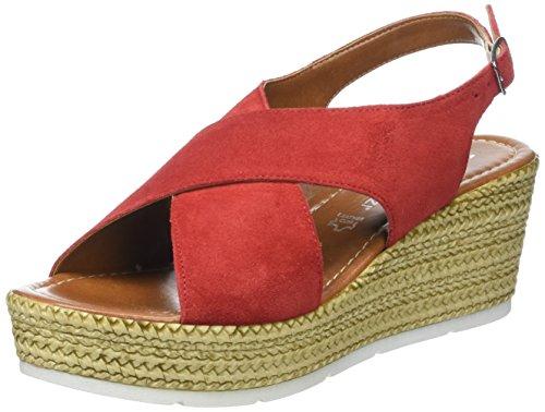 Marco Tozzi Premio Damen 28362 Offene Sandalen mit Keilabsatz, Rot (Chili 533), 37 EU