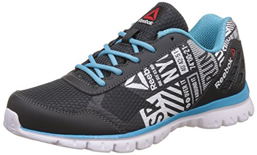 Reebok Women's Run Voyager Gravel, Crisp Blue, Wht and Blk Running Shoes -6 UK/India (39 EU)(8.5 US)