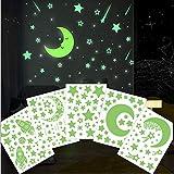 Sternenhimmel Aufkleber Leuchtend,Leuchtsterne/Leuchtpunkte für deinen Sternenhimmel - selbstklebend und fluoreszierend Leuchtaufkleber