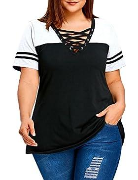 ASHOP Camisetas Muje, Camisetas Sin Mangas Tallas Grandes EN Oferta Suelto Tops Blusas de Mujer Elegantes de Fiesta...