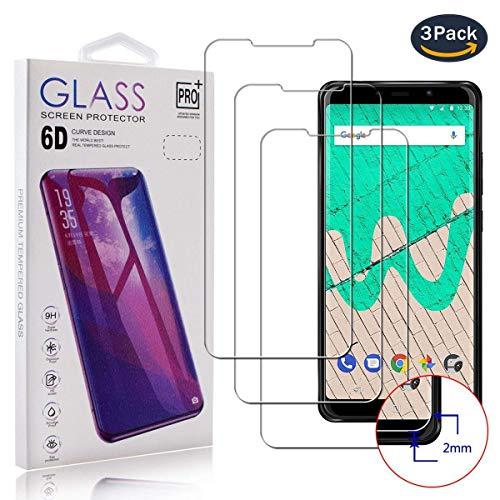 pinlu [3 Stück Panzerglas Bildschirmschutzfolie für Wiko View Max,Transparent Glasfolie Protector 9H Härtegrad Schutzglas,99prozent Transparenz,HD Screen,Einfaches Anbringen