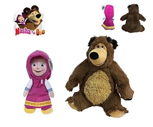 Masha e orso masha and the bear pack peluches masha seduta