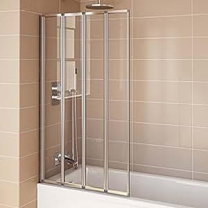 800mm modern pivot folding bath shower glass screen for Folding shower for small bathrooms